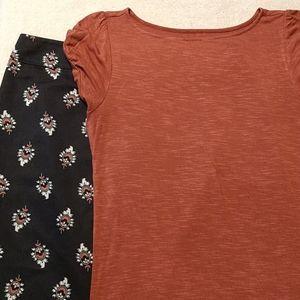 LOFT skirt and top